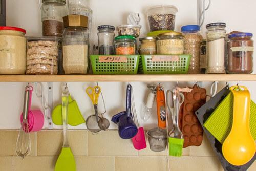 ארגון ציוד למטבח בתזונה הטבעית
